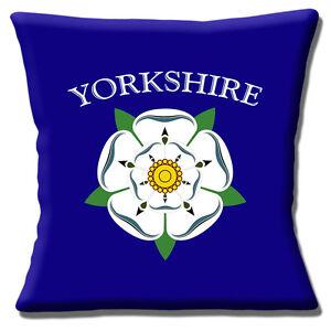 Rose-D-039-Yorkshire-Logo-40-6cmx40-6cm-40cm-Coussin-Housse-Anglais-County-de
