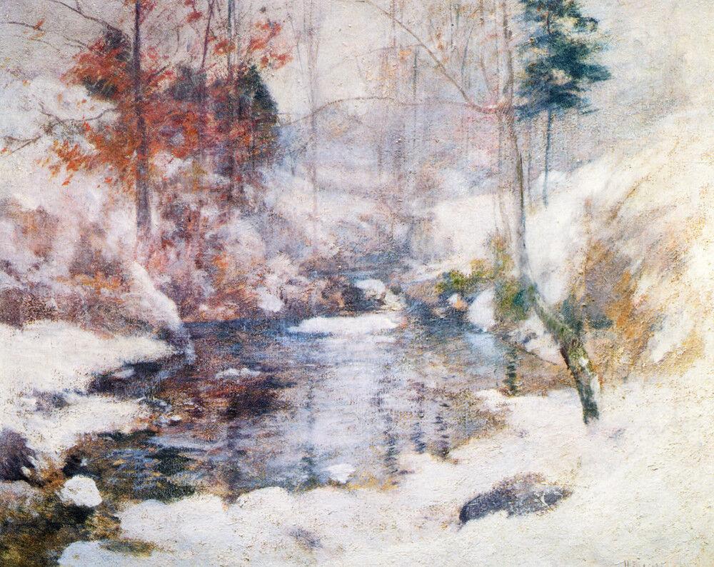 Winter Harmony-John Twachtman - CANVAS OR Drucken Wand Kunst