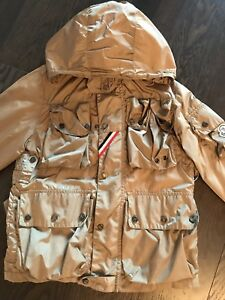 ca519691db40 Moncler Boys Multi-Pocket Beige Rain Coat Jacket Windbreaker Size 8 ...