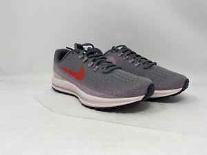 Nike-Womens-Air-Zoom-Vomero-Running-Shoe-Grey-Purple-White-Size-7M-US