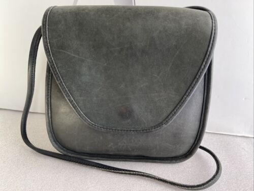 Coach Vintage Lindsay Flap Dirty Green Leather Cro