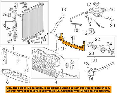 GM OEM Radiator-Lower Baffle 23321610