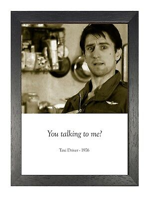 Taxi Driver1976 Neo-noir Psychological Thriller Film Quote Poster De Niro Foster
