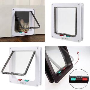 Pet-door-4-way-Lockable-Small-Medium-Large-Cat-Puppy-Flap-Magnetic-Door-Frame