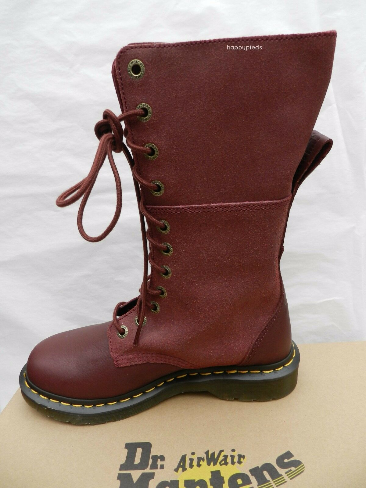 Dr martens hazil virginia mujer 41 botas cherry rojo 20346600 uk7 new