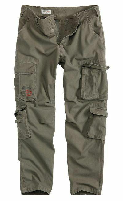 Surplus Pants AIRBORNE Slim Military Cargo Trousers Men Armycombat Olive