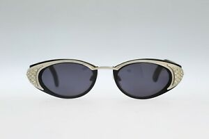 Neostyle-Holiday-2005-90s-vintage-unique-rhinestone-oval-sunglasses-NOS
