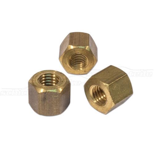 M8x11 Sechskantmuttern DIN 934; 100 Stück Sechskant Muttern Messing SW 13