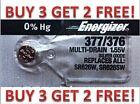ENERGIZER 377/376 SR626SW SR626W WATCH BATTERIES NEW BUY 3 GET 2 FREE!!