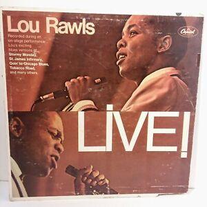 Lou Rawls Live LP Vintage Vinyl Capitol Records EMI