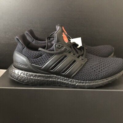 New Adidas x Manchester United Red Rose Ultraboost Core Black EG8088 Size 11