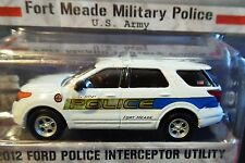 GREENLIGHT 12 2012 FORD POLICE INTERCEPTOR UTILITY HOT PURSUIT MILITARY ARMY CAR