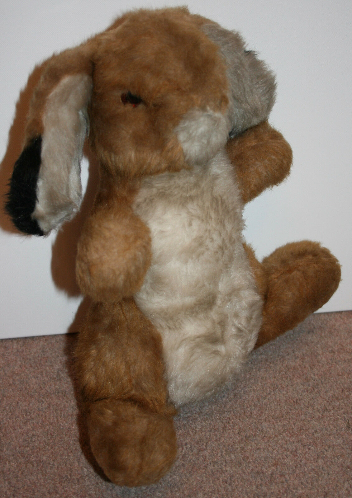 1970s True Vintage MERRYTHOUGHT RABBIT HARRODS Large H15  Toy Bunny braun Mohair