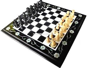 Marble-Chess-Unique-Table-Top-Floral-Marquetry-Inlaid-Kitchen-Decorative-H4465