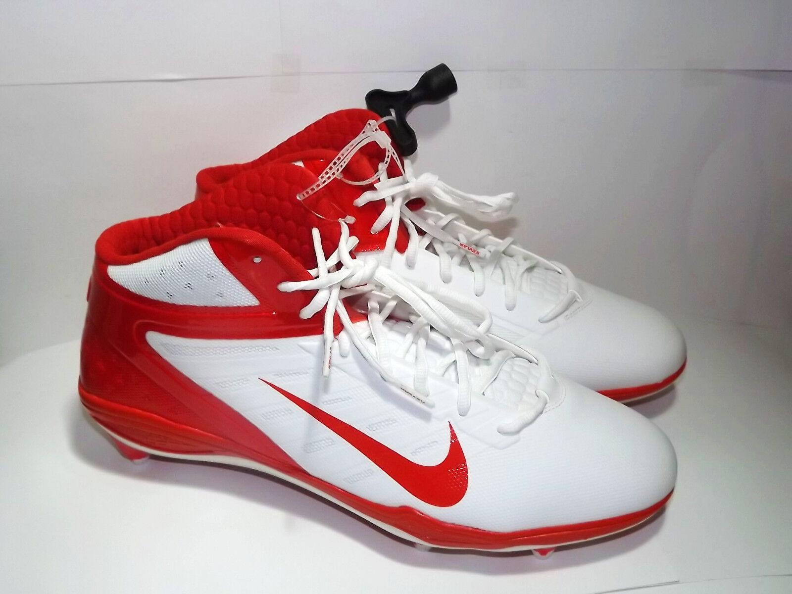 MENS NIKE ALPHA TALON  ELITE D FOOTBALL CLEATS SHOES WHITE ORANGESIZE 15 NEW Brand discount