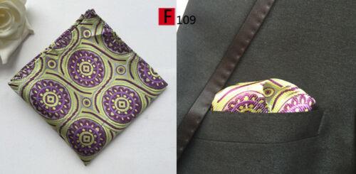 Taschentuch Einstecktuch Silber Blau Grün Gelb Braune Schwarz Muster Taschentuch