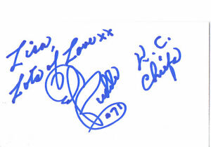 ED BUDDE 3x5 Index Card SIGNED Football Player AFL NFL Guard KANSAS CITY CHIEFS