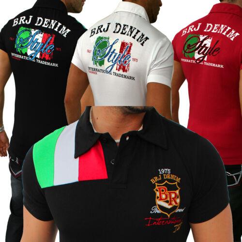 Zahida Jeel T-shirt pour hommes Haut Shirt Polo Italia italy coupe slim S-XXL