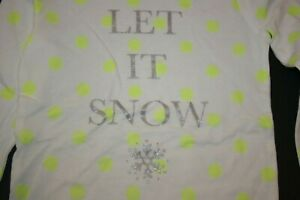 New Carter's Girls 6X Top Let It Snow Holiday Tee Silver Glitter Snowflake