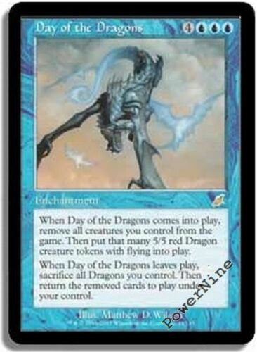 Blue Scourge Mtg Magic Rare 1x x1 1 Day of the Dragons