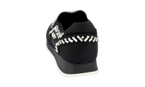 Prada 1s877f 41 Mit Schuhe Uk Besetzt 41 Strass Sneaker 5 Neu Luxus 8 Schwarz 1wdApU1q