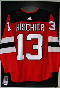 0e77650ff Nico Hischier New Jersey Devils Adidas Home NHL Hockey Jersey Size ...