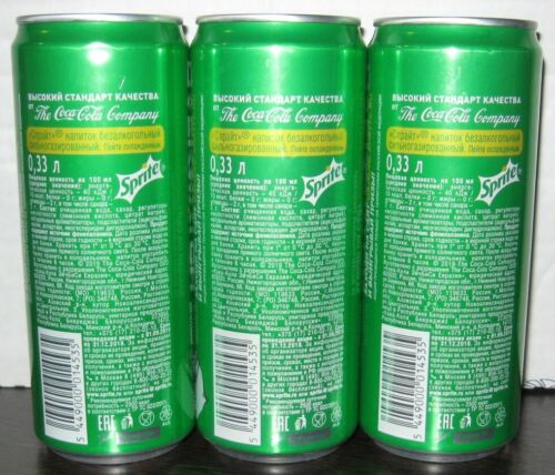 Russia Sprite NEWEST 330 ml 2019 Cans set Overwatch edition