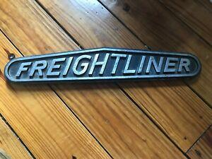 door armrest handle trim stainless Freightliner script for Classic FLD each