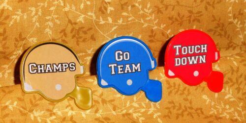 Football Helmet Cupcake Rings,DecoPac,Game Day Favor Rings,Plastic,Mulit-color