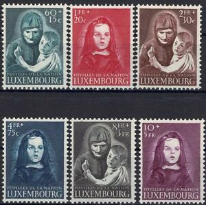 Lussemburgo LUXEMBOURG 1950 guerra orfani frase posta FRESCHI MNH ** kw:150 €
