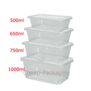 Image Is Loading Clear Plastic Microwave Safe Food Containers With Lids