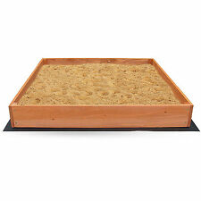 Sandbox For Kids Wooden Square Frame Sandpit Toddler Outdoor Backyard Sand Box