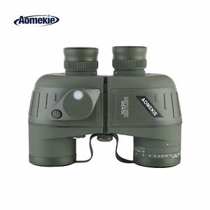 10X50 Binoculars For Adult Military Binoculars Waterproof W/ Rangefinder Compass