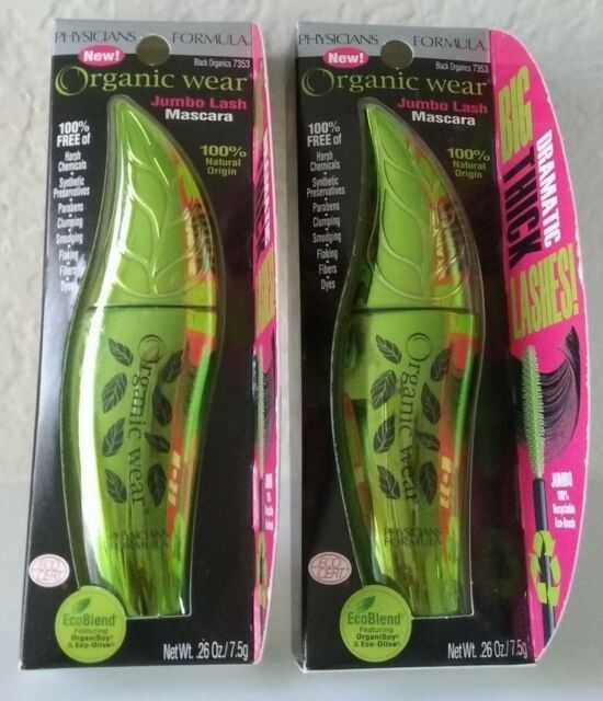 0b2038c3e94 2 Physicians Formula Organic Wear Jumbo Lash Mascara Black Organics 7353  for sale online | eBay