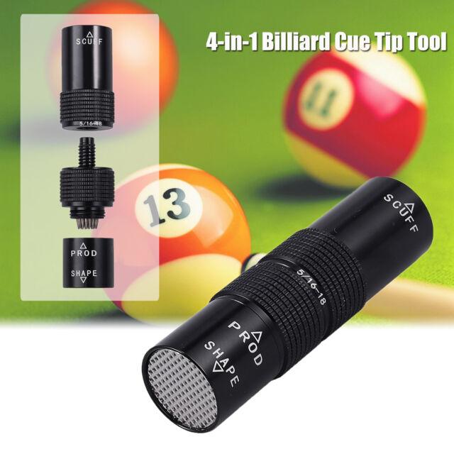 Snooker Pool Cue Tip Tool Billiard Shaper//Scuffer//Aerator//Joint Protectors