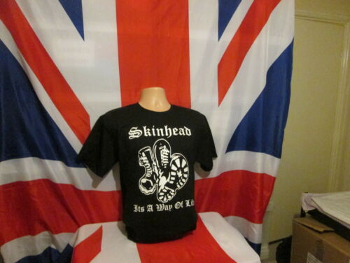 Son A Way Of Life T Shirt Noir Skinhead boots