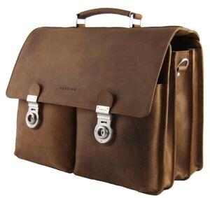 Harold-039-s-Laptoptasche-15-17-Zoll-Rind-Leder-Notebook-Tasche-Laptop-Fach-470103