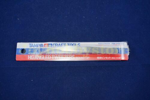 TAMIYA 74108 Angled Tweezers Round Tip