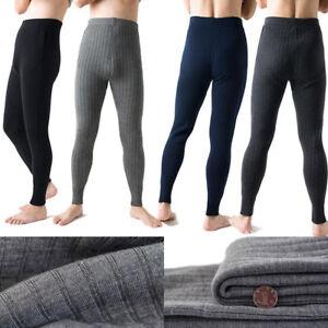 fb0357a46c6fe2 Image is loading Winter-Warm-Mens-Thermal-Leggings-Sherpa-wool-Knitting-