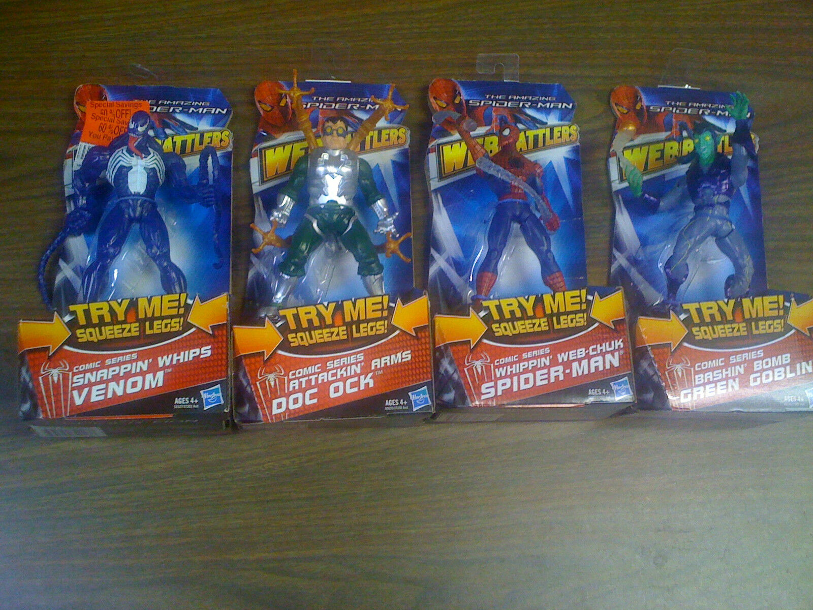Marvel The Amazing Spiderman Web Battlers Set Of 4 Figures Figures Figures NEW FREE SHIP US 7aefc2