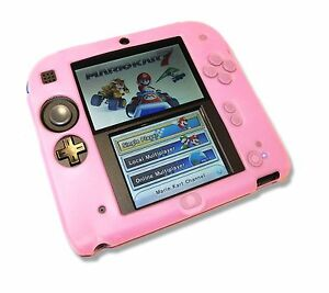 Pink-Soft-Silicone-Gel-Cover-Case-for-Nintendo-2DS-Console-UK-Seller