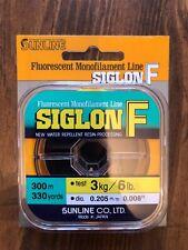 SUNLINE SIGLON F FLOURESCENT MONOFILAMENT LINE 8# TEST 330 YARDS ORANGE