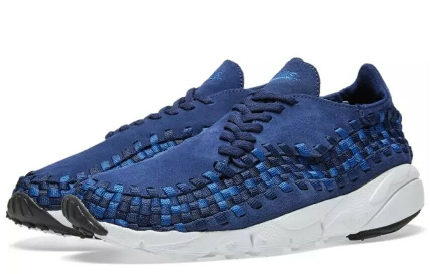Nike Air Footscape Woven NM Running shoes Uk 9 Binary bluee Bnib Trainers 875797