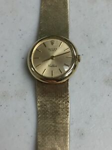 Details about VINTAGE ROLEX GENEVE CELLINI SOLID 14K GOLD LADIES WATCH