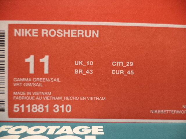 301c7f9f68d86 2013 Nike Rosherun Roshe Run Gamma Green Sail White Grey MINT 511881-310 DS  11 for sale online