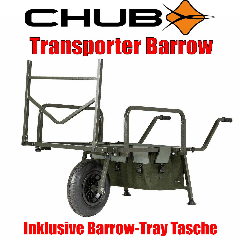 Chub Transporter Barrow Trolley sehr robust viel Stauraum Volumen Transportkarre