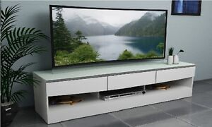 TV-Stand-Entertainment-Unit-1900MM-Cabinet-Drawer-Plasma-LCD-LED-White