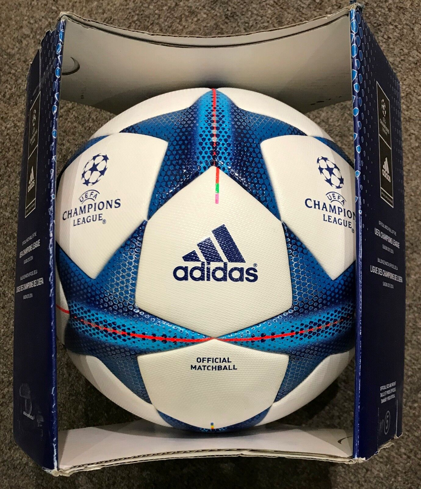 Adidas UEFA Champions League 2015 2016 balón oficial Aprobado Fifa Tamaño 5