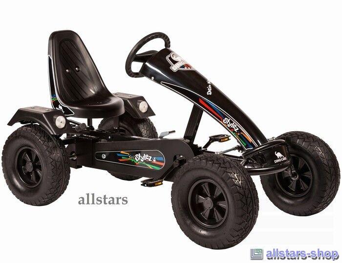 Allstars Dino Cars DinoCars Stylez S222 AF GoKart schwarz Tretfahrzeug Trackreif