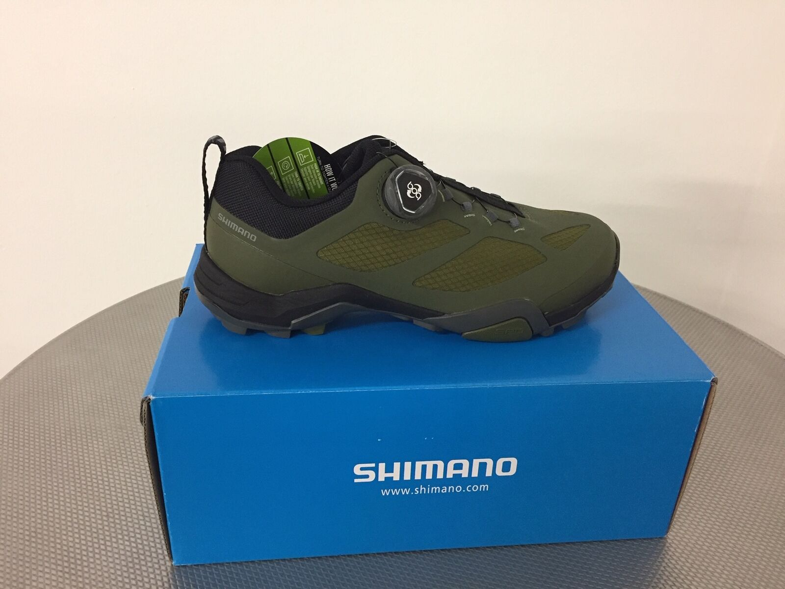 SHIMANO SHMT7 Olive numero 41 MTB  MTB scarpe NEW